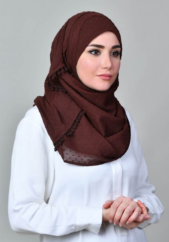 Bokitta Hijab Bokitta Hijab The Number One Instant Shawl Ready To Wear And As Easy As A B C Plain Pompoms Crinkled Butti Chiffon
